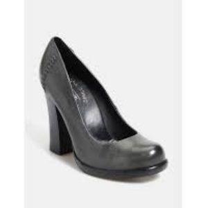 KORK-EASE Simone Dark Gray Block Heel Pumps 7.5M